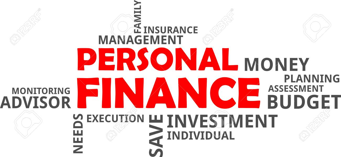 A Word Cloud Of Personal Finance Related Items Royalty Free Cliparts