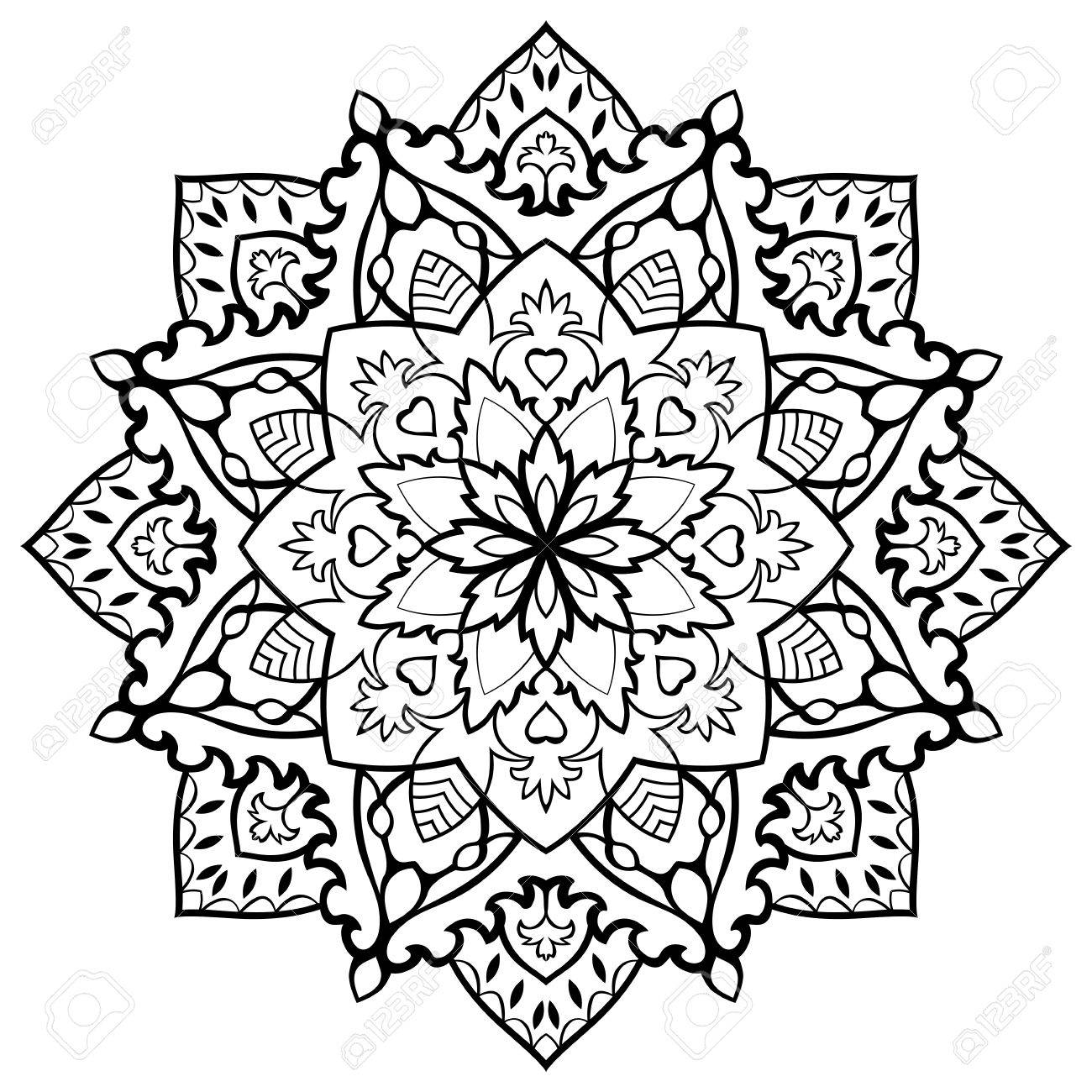 Mandala Teppiche Stock Photo