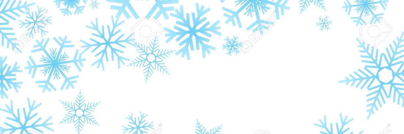 Vector Banner, Blue Winter Background With Ice And Snow Royalty Free