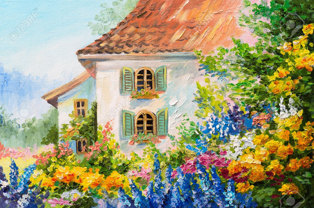 Flower Garden Paintings. Flower Garden Paintings Zandalus Net G