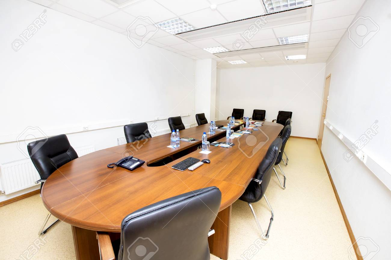 Meeting Room Tables A Empty Meeting Room With A Table And Chairs