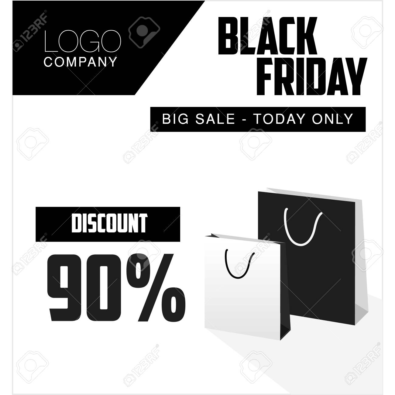 Black Sale Black Friday Sale Discount And Voucher Template