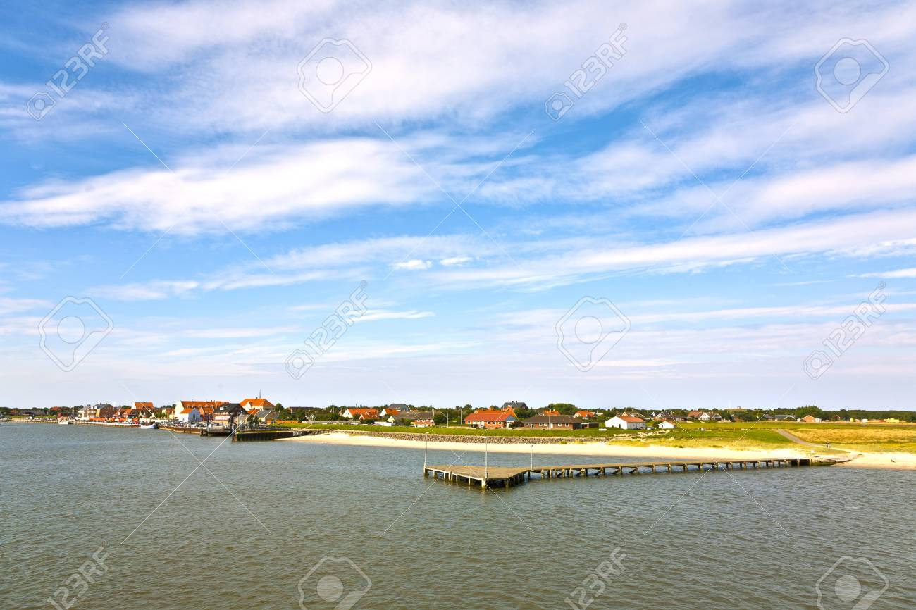 Nordby Bank Town Of Nordby On The Island Of Fano In Denmark From Seaside