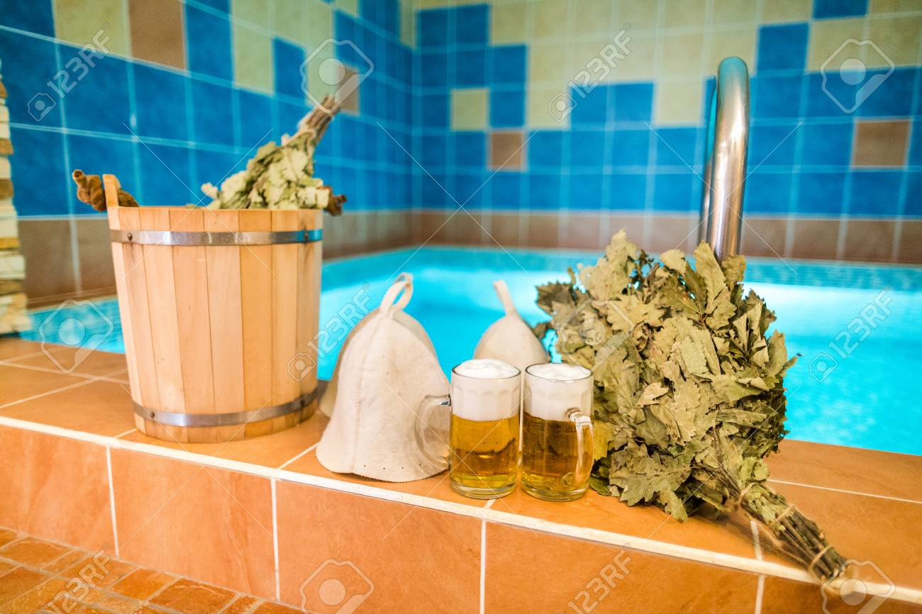 Badezimmerartikel Stock Photo