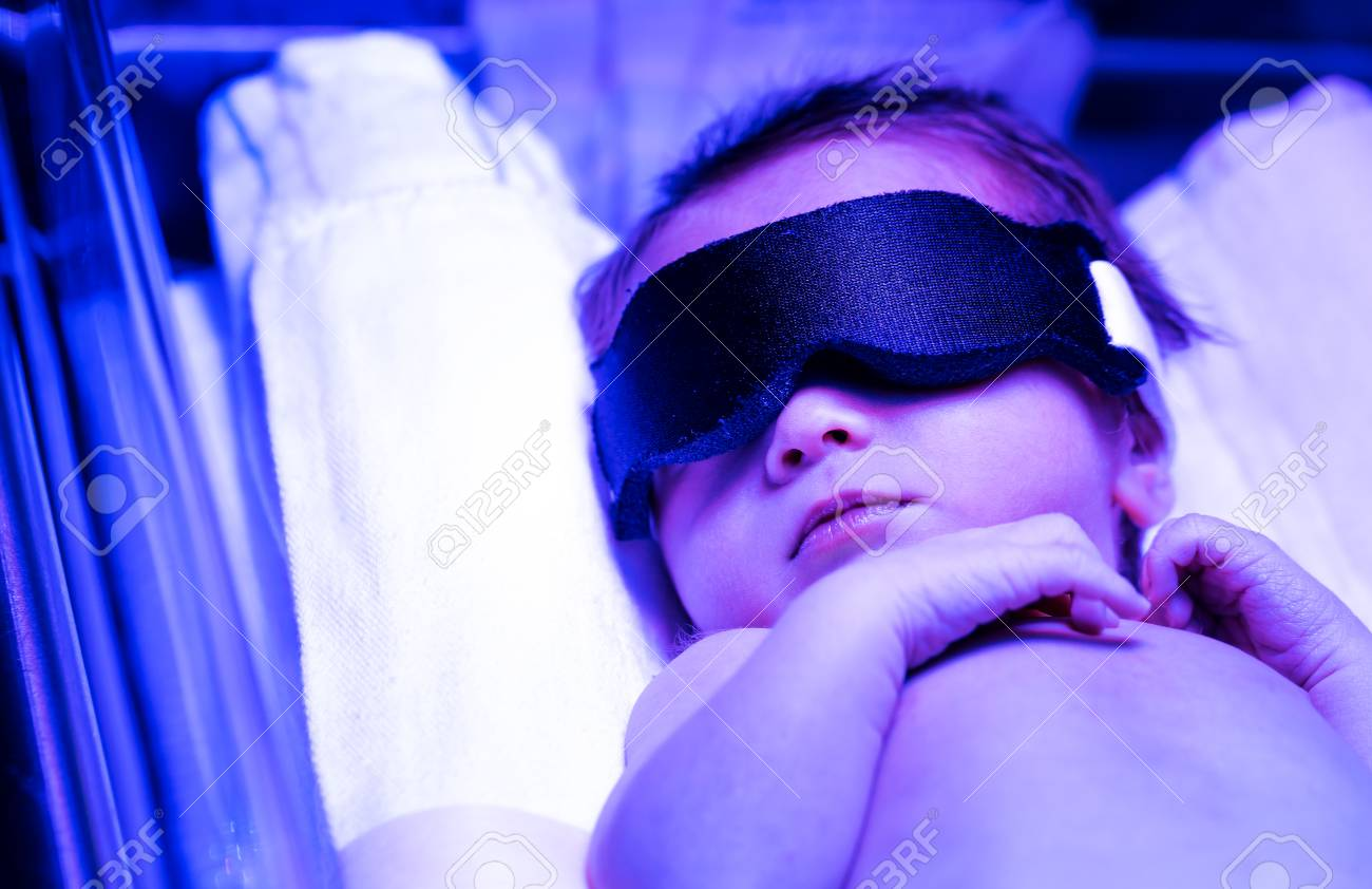 Newborn Babies Jaundice Treatment Newborn Infant Baby Boy Receiving Phototherapy For Jaundice At
