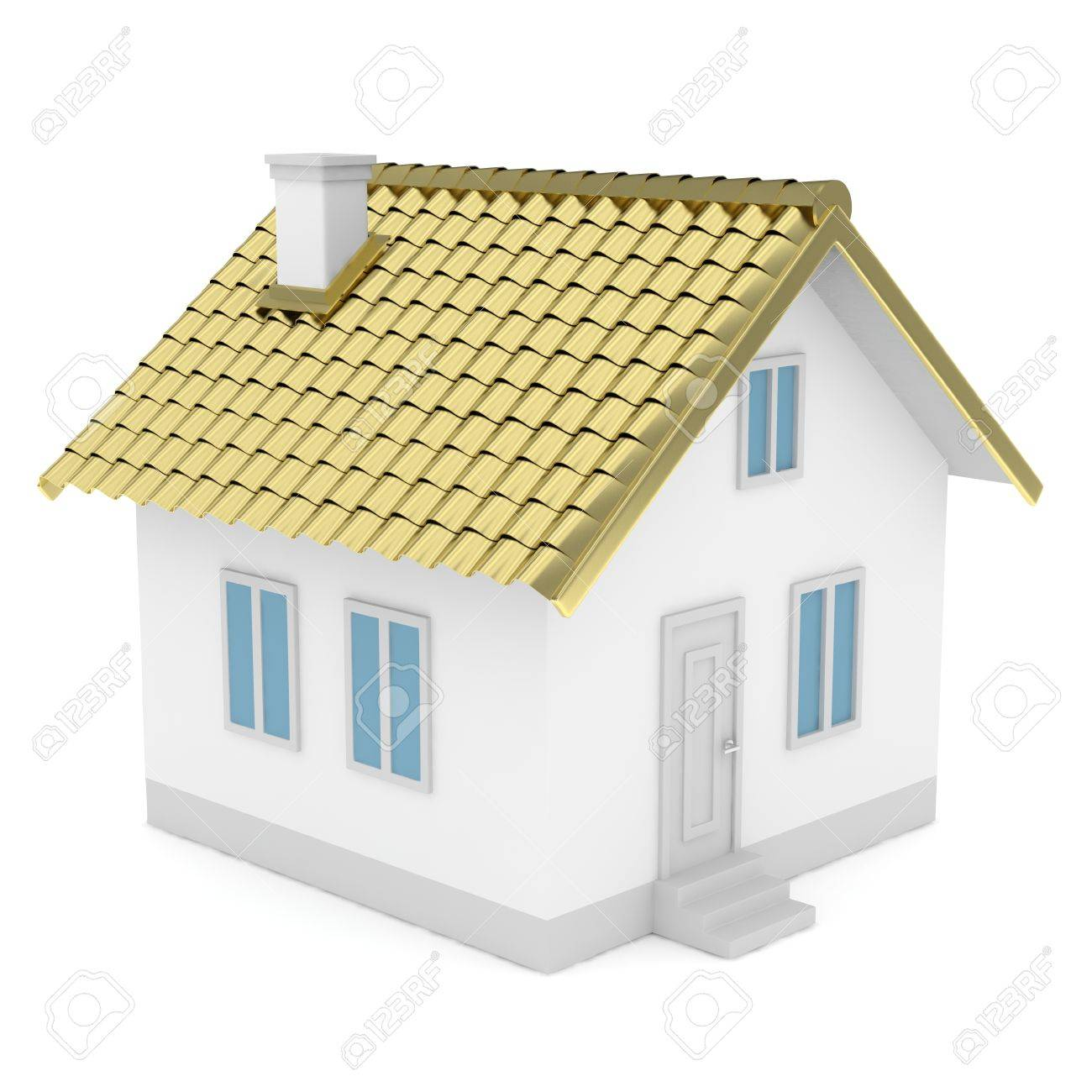 Einfaches Haus Stock Photo