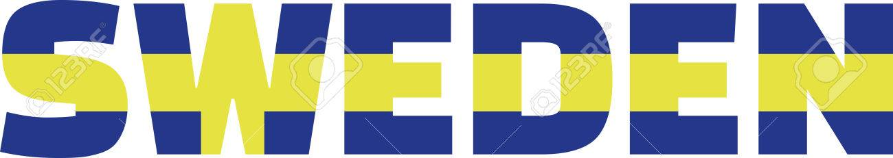 Sweden Flag Word Royalty Free Cliparts, Vectors, And Stock - word flag
