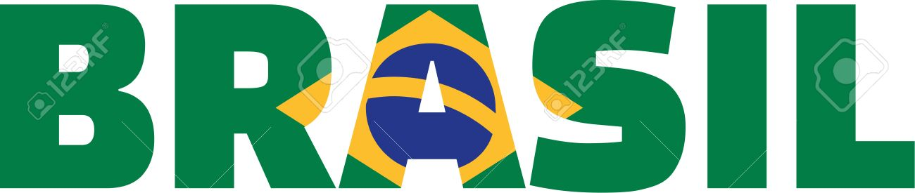 Brazil Flag Word Brasil Royalty Free Cliparts, Vectors, And Stock