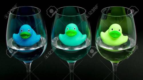 Medium Of Rubber Wine Glasses