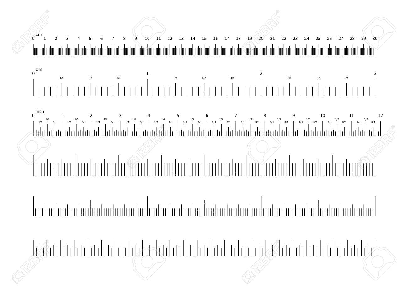 Ich Cm Ruler Scale. Inch And Cm Measuring Scales. Horizontal Calibration.. Royalty Free Cliparts, Vectors, And Stock Illustration. Image 123966603.