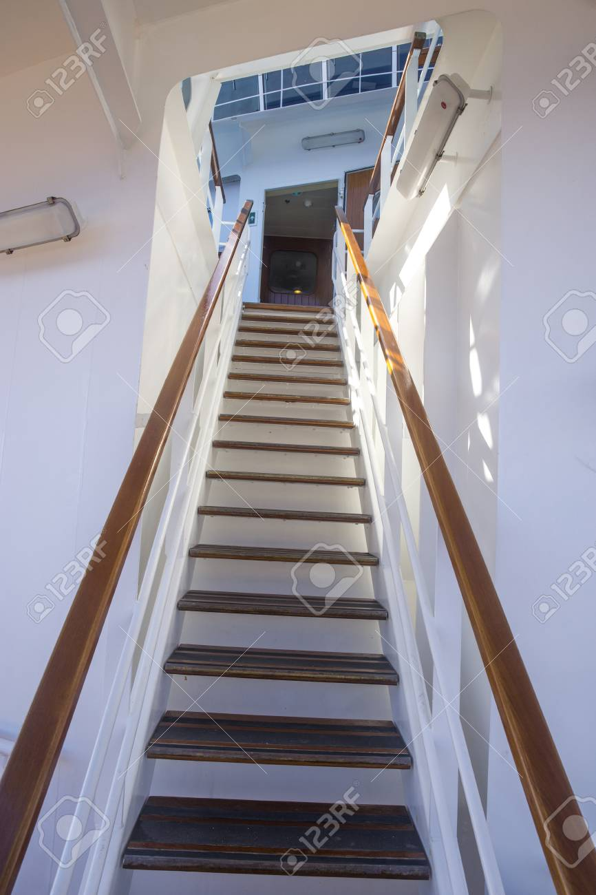 Steile Treppe Stock Photo