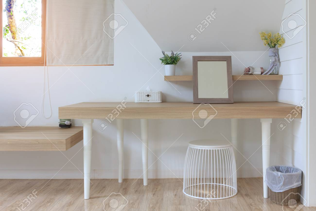 Cosmetic Table Modern Cosmetic Table Room Interior On White Wall And Window