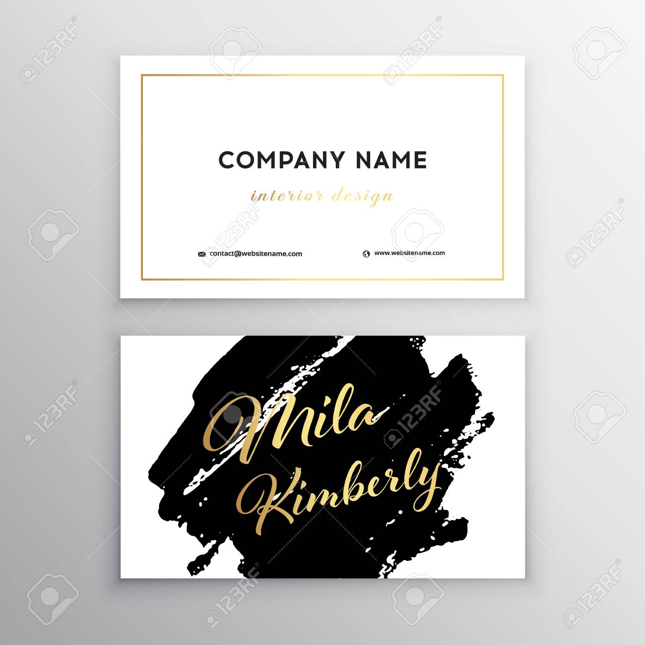 Calligraphy Templates Online Set Of Black And Gold Design Templates For Brochures Flyers