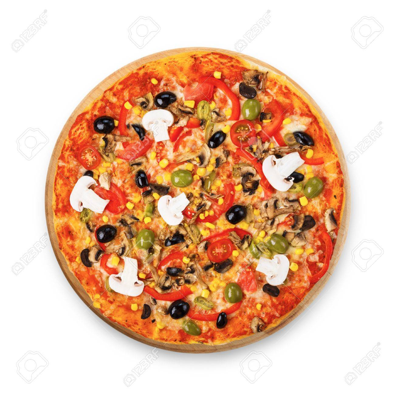 Vegetarische Pizza Stock Photo