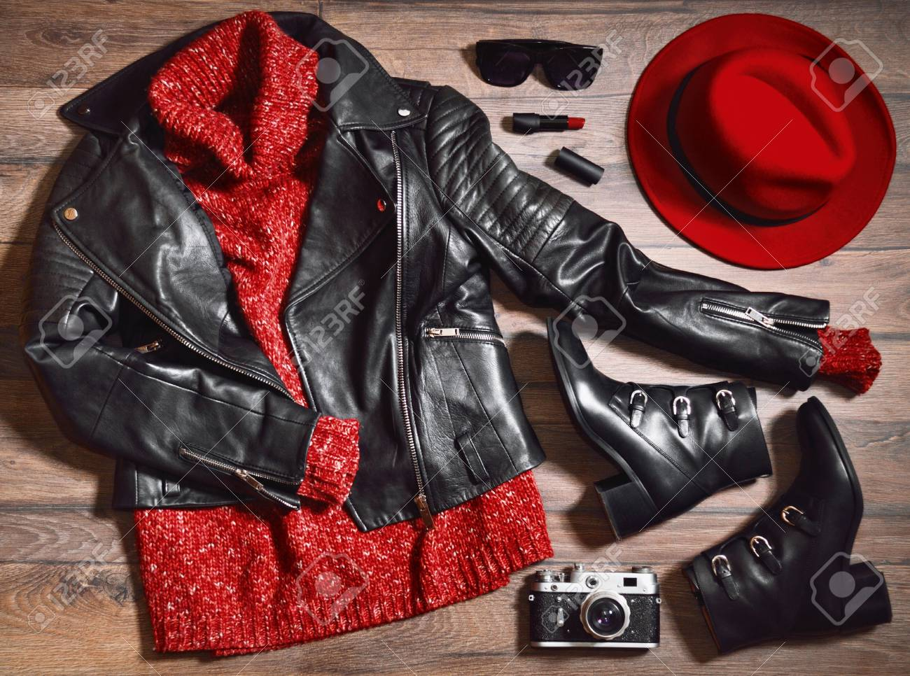 Stylish Clothes Set Of Stylish Clothes Woman Trendy Fashion Clothes Collage On