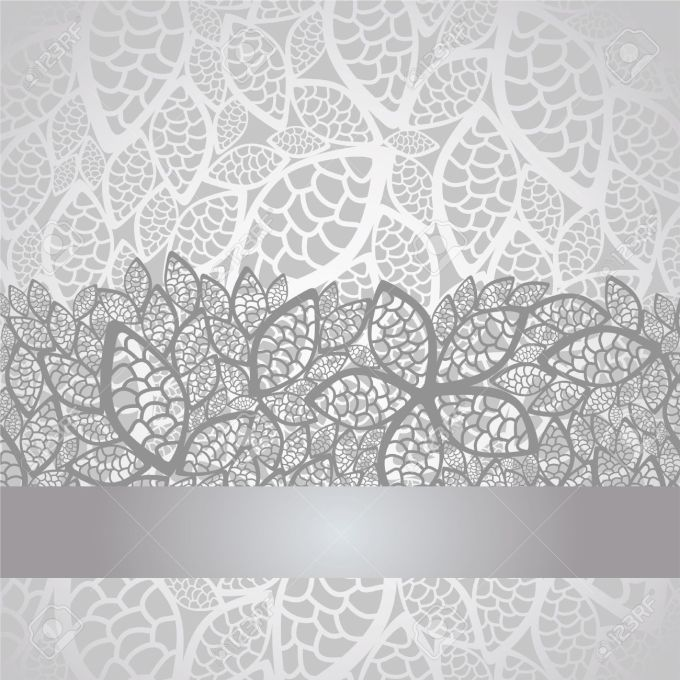 Luxury Silver Leaves Lace Border And Background Royalty Free Wallpapers 984