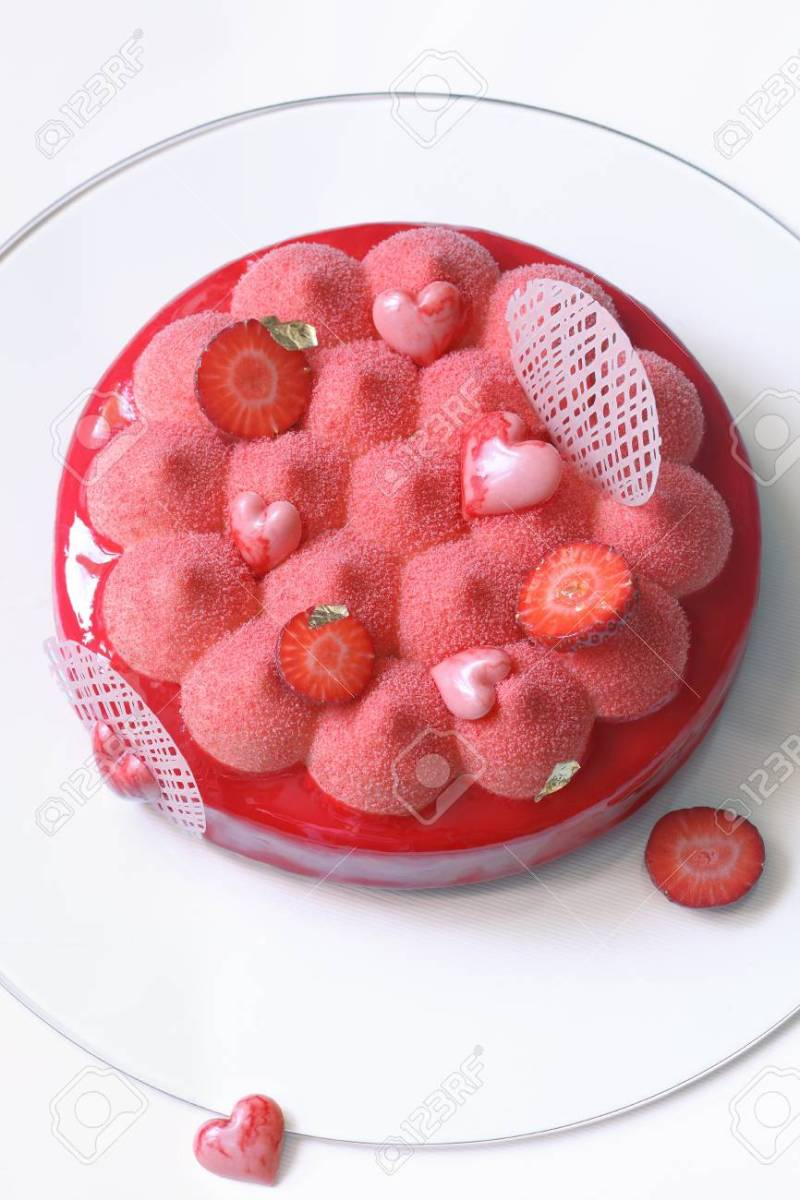 Large Of Strawberry Mousse Cake