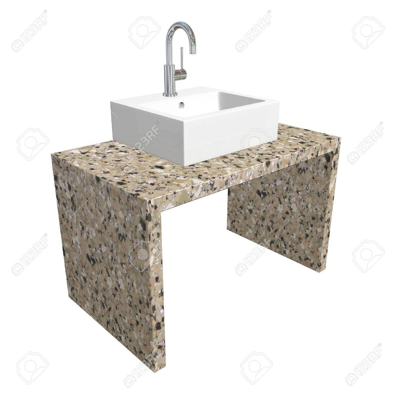 Marble Basin Stock Illustration