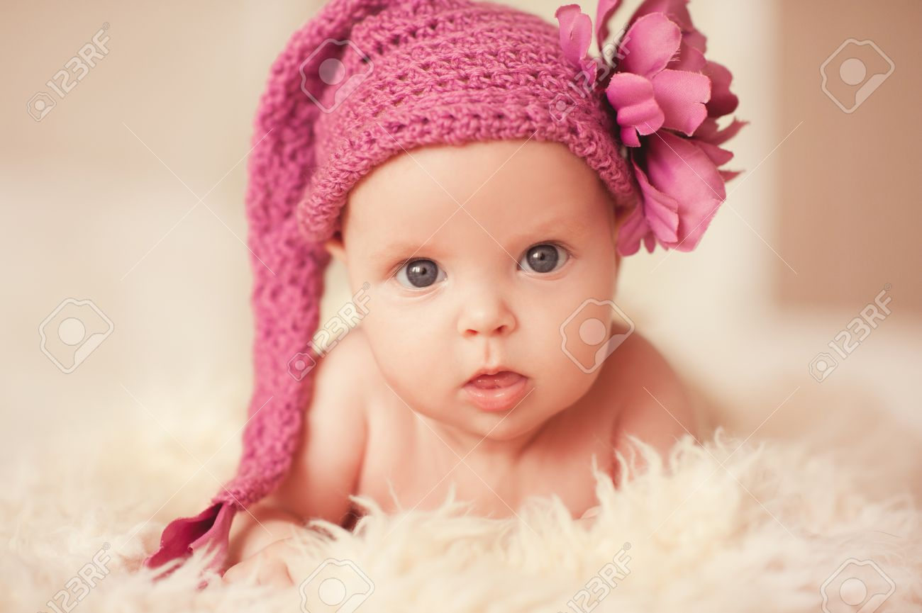 Considerable Baby Girl Stuff Baby Girl Middle Names Baby Girl Month Wearing Knitted Pink Hat Baby Girl Month Wearing Knitted Pink Hat baby shower Cute Baby Girl