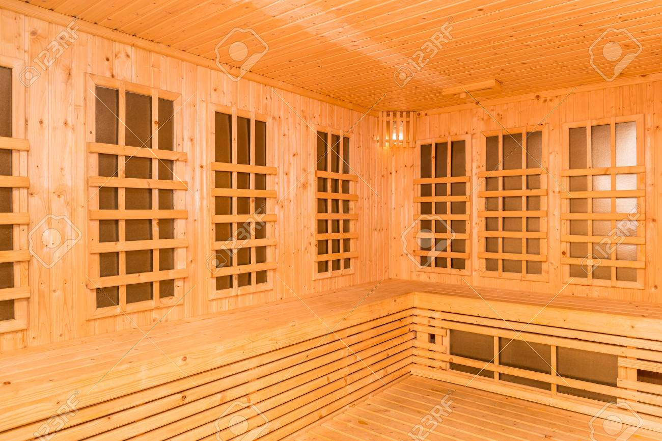 Sauna Interieur Wooden Interior Of Infrared Sauna Room New Technology Of Healthcare