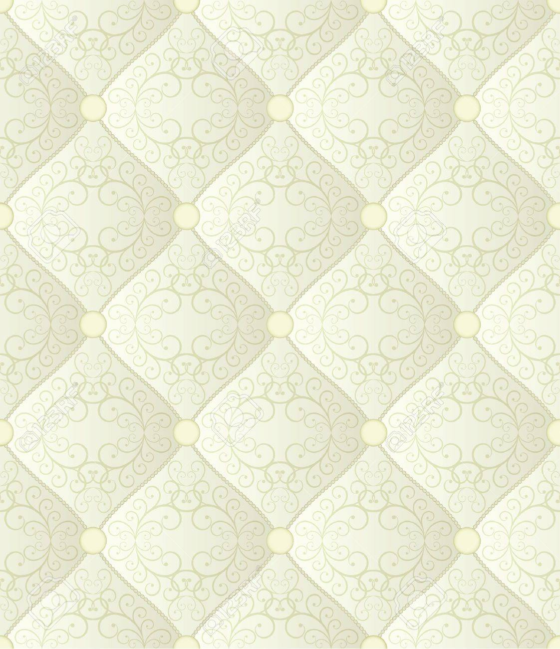 Quilted Fabric Creamy Seamless Background Quilted Fabric