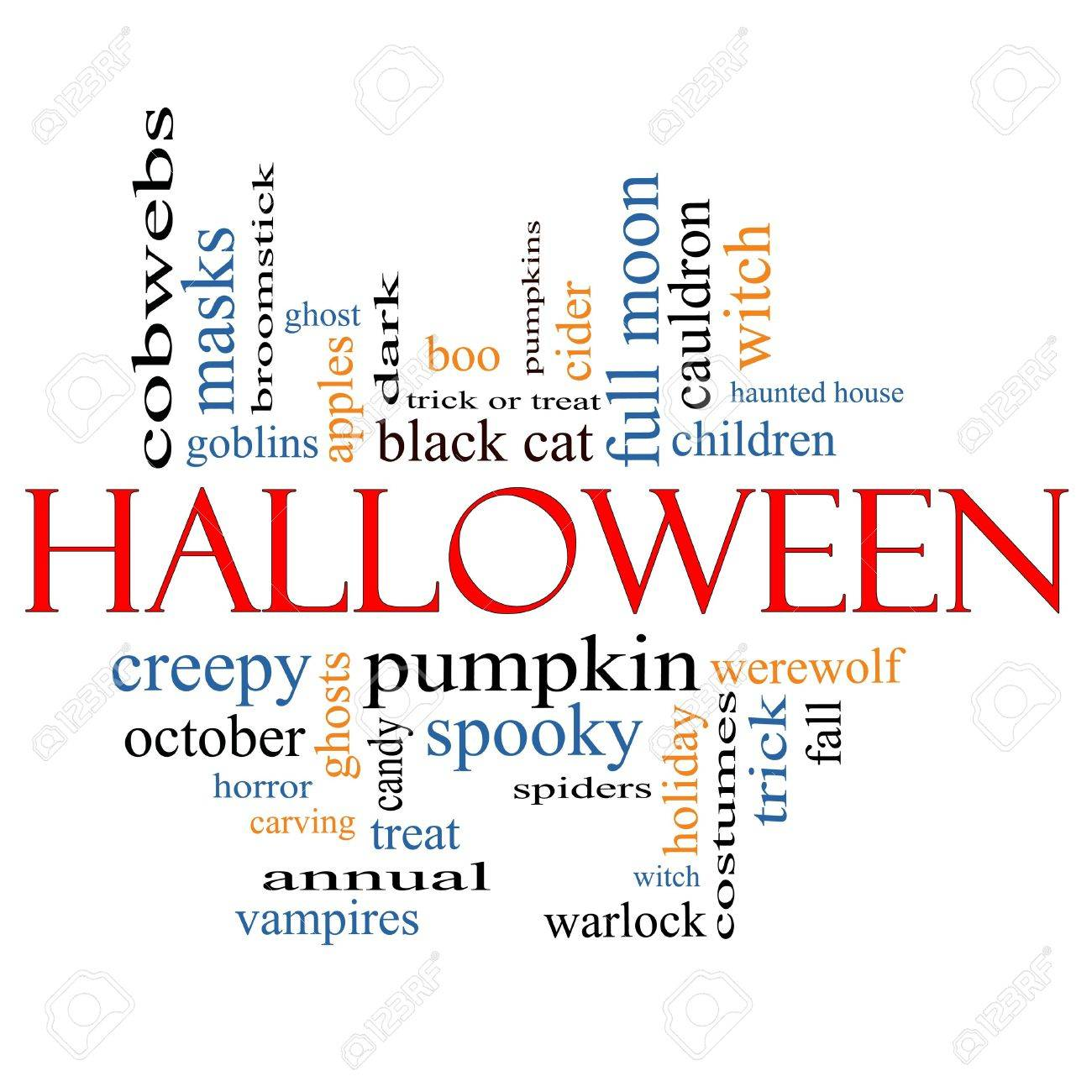 Halloween Begriffe Halloween Word Cloud Concept With Great Terms Such As Pumpkin