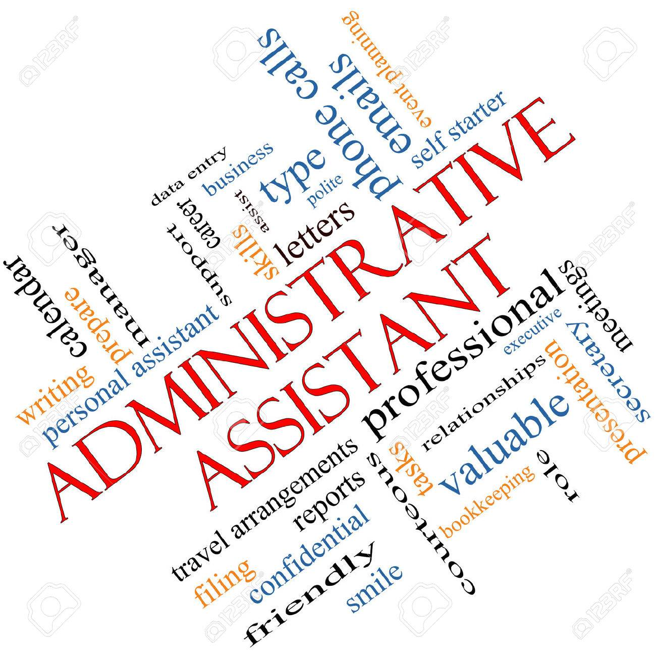 Administrative Assistant Administrative Assistant Word Cloud Concept Angled With Great