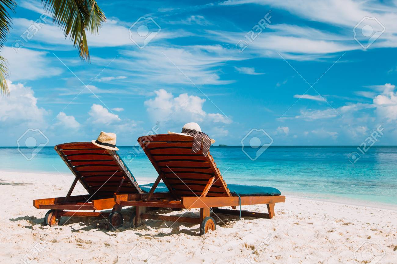 Two Chairs On The Tropical Beach Stock Photo Picture And Royalty Free Image Image 75801325