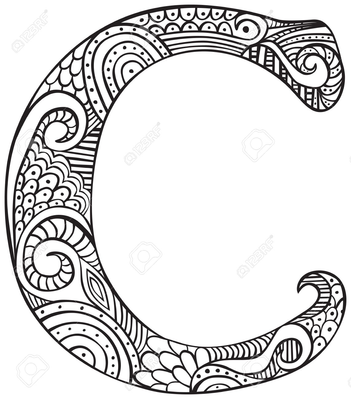 coloring pages for adults letters