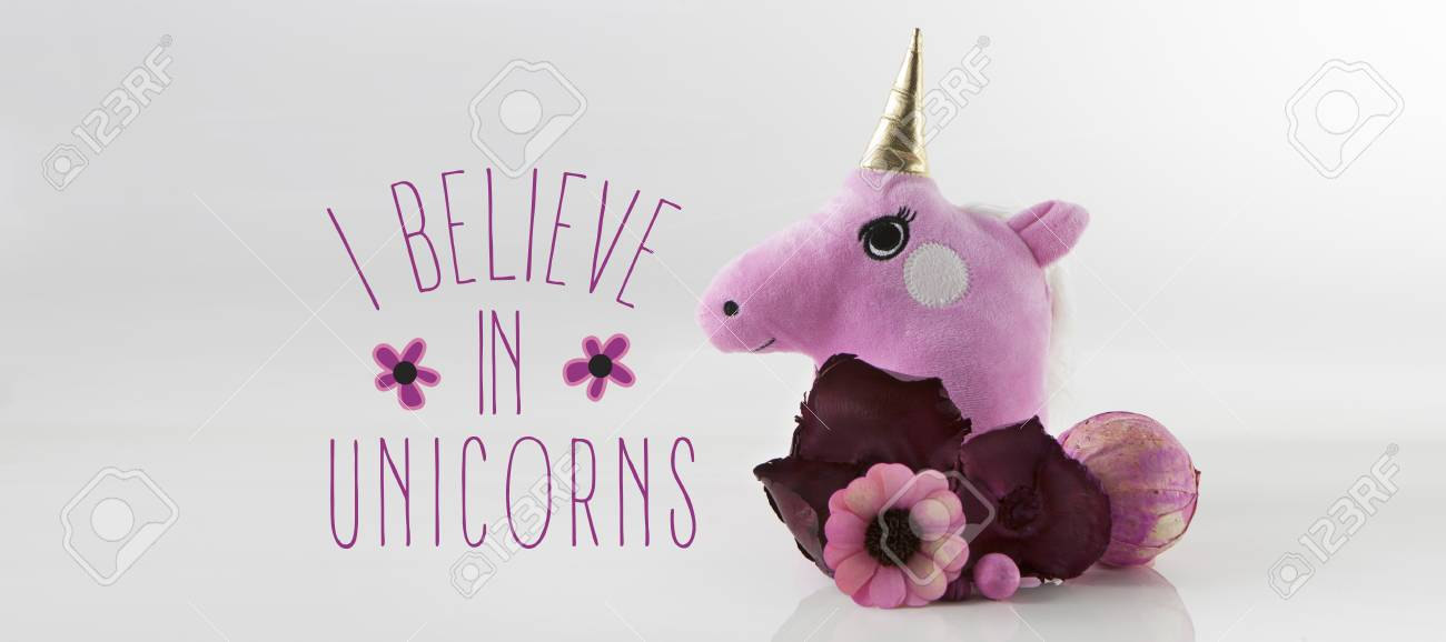 Cute Unicorn Card Template Design Stock Photo, Picture And Royalty