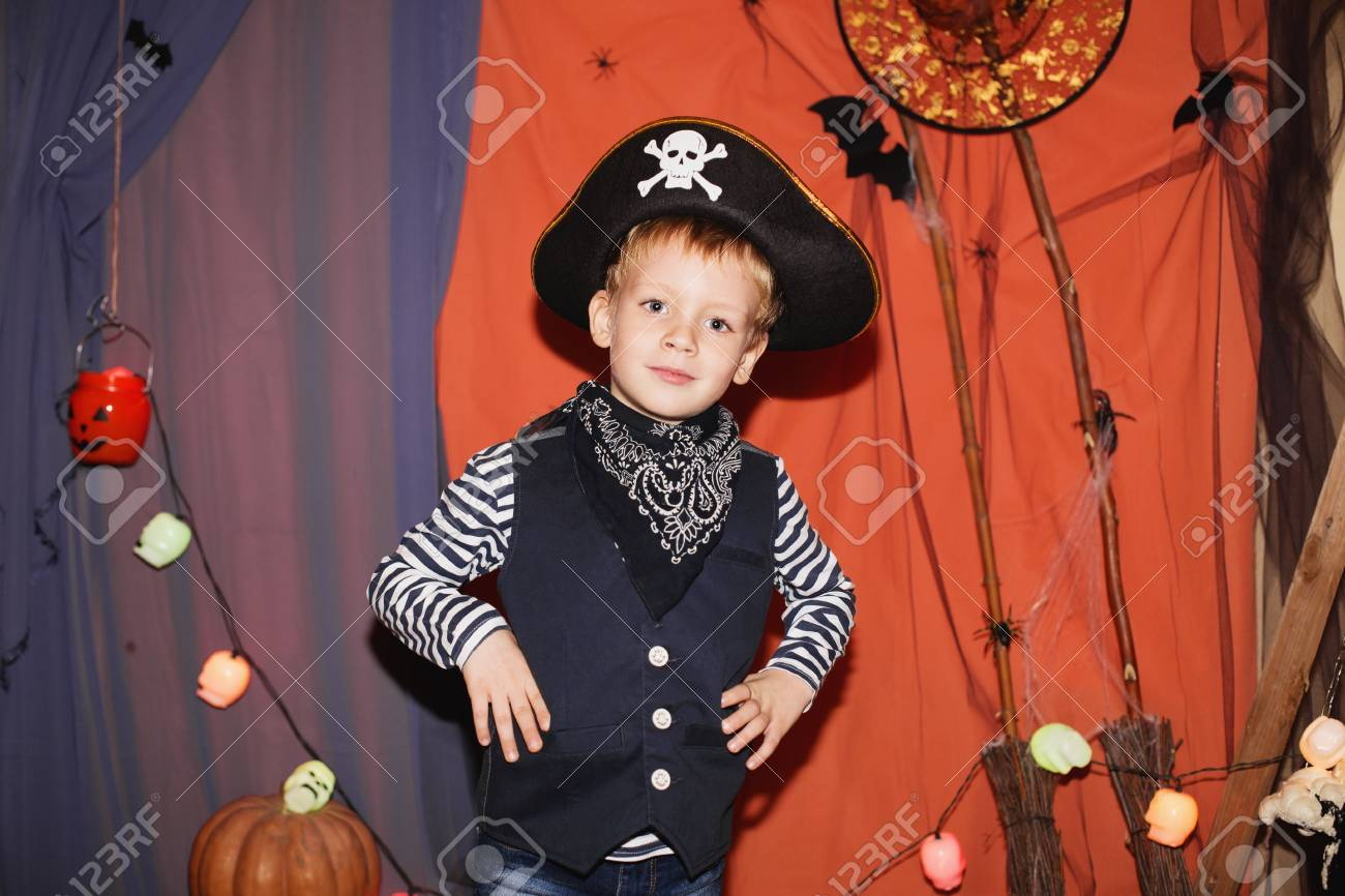 Schminken Kinder Halloween Stock Photo