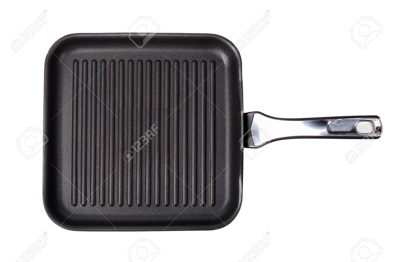 Grill Frying Pan Grill Frying Pan Isolated On White Background