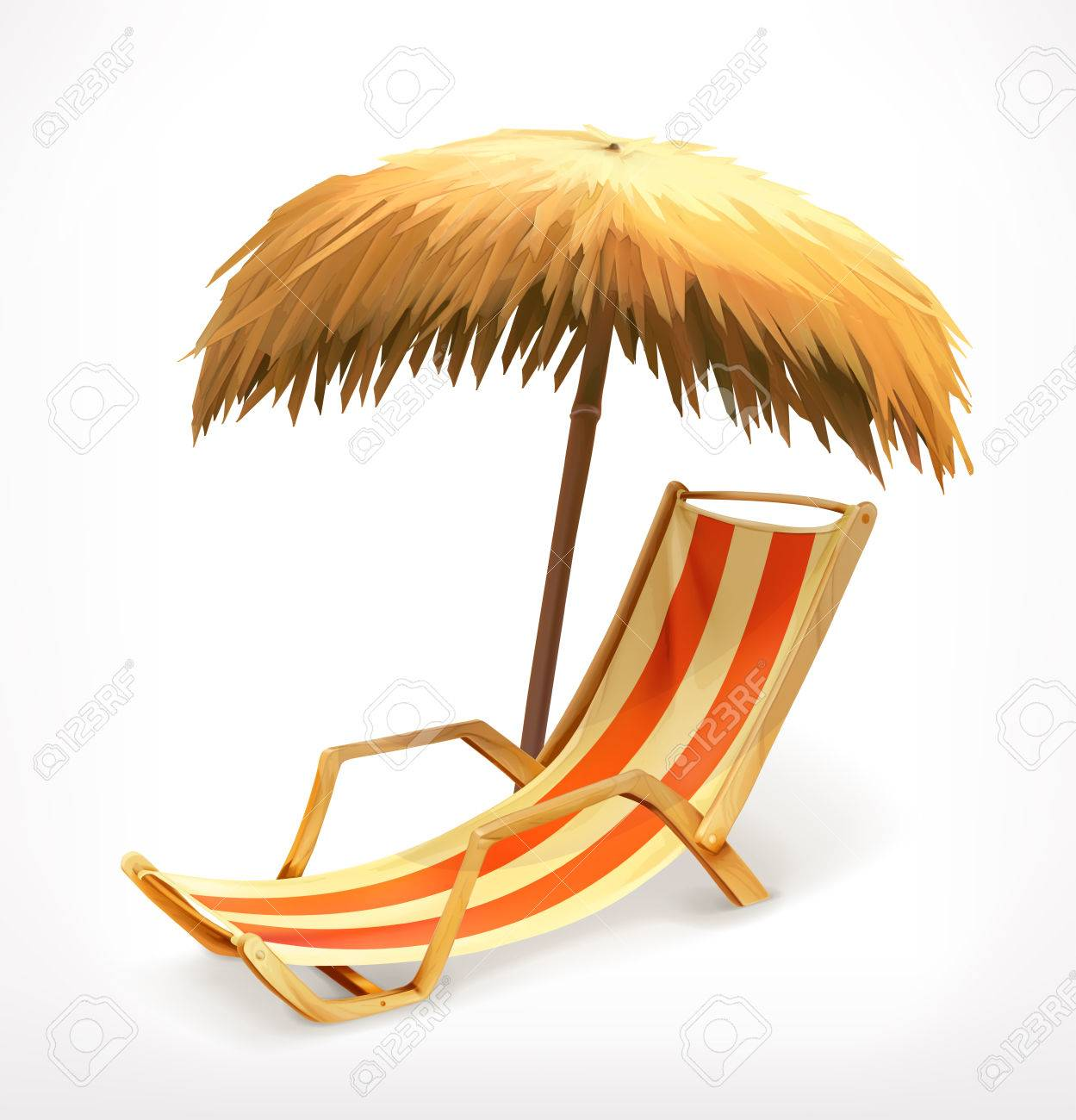 Beach umbrella and chair png - Download