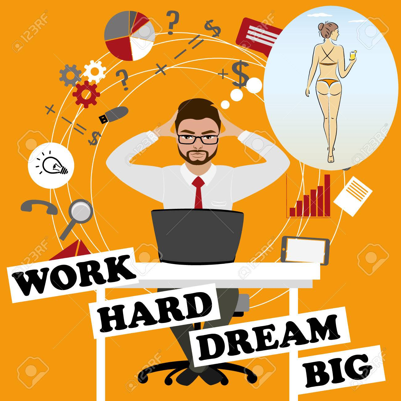 Attractive Vector Work Dream Businessman Dreams About Sexy Illustration Work Dream Businessman Dreams About Sexy Ny Work S Jokes Ny S Workshop bark post Funny Work Pictures