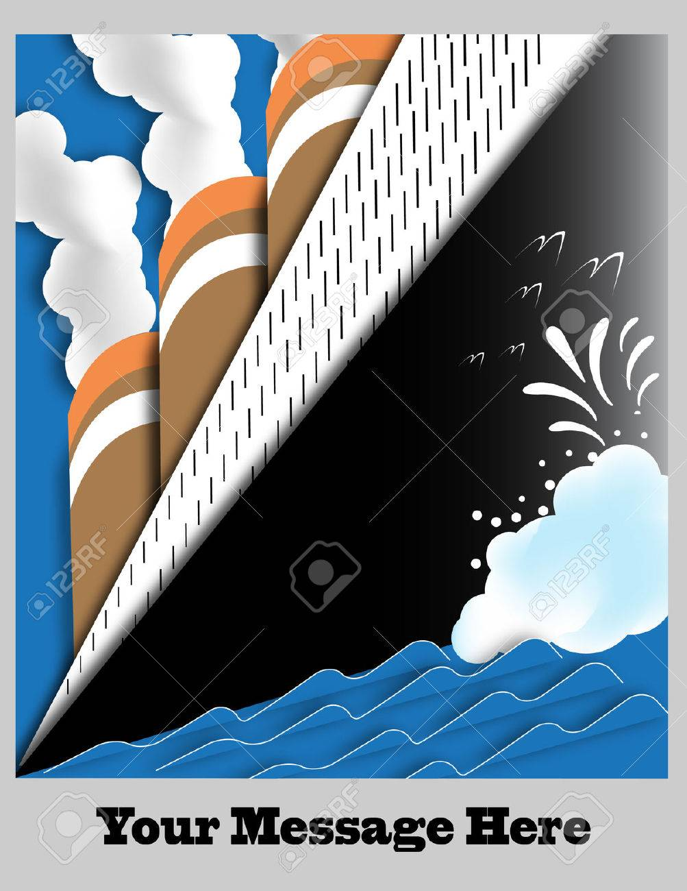 Deco Poster Art Deco Ocean Liner Poster With Space For Text