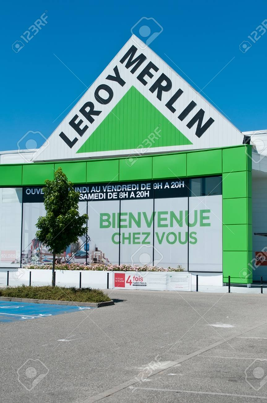Leroy Merlin Mulhouse Mulhouse France 17 July 2016 Entry Of The Store