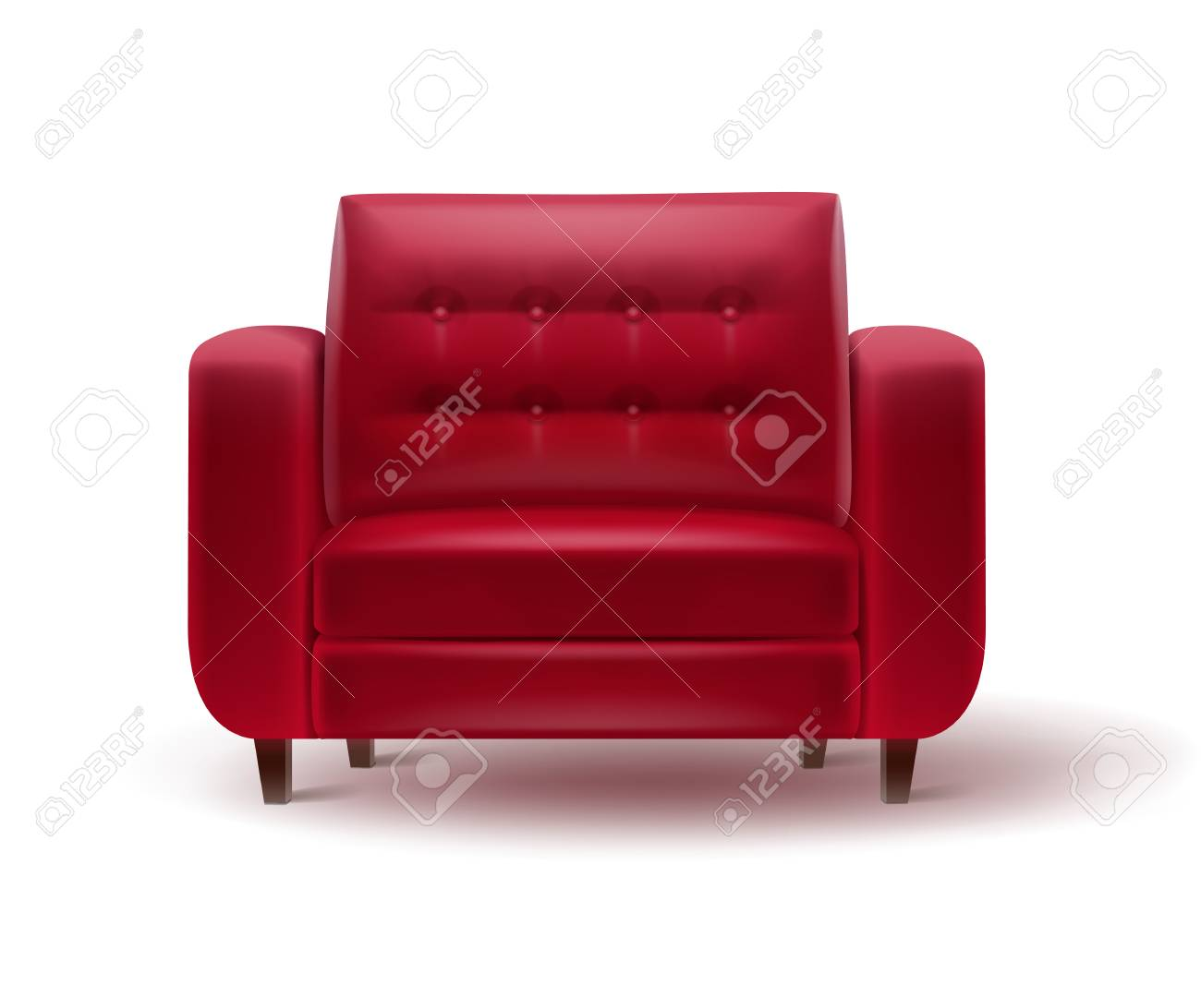 Roter Retro Sessel Stock Photo
