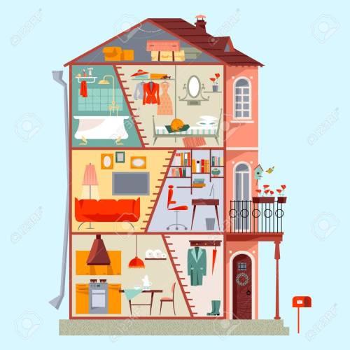 Medium Of Three Story House