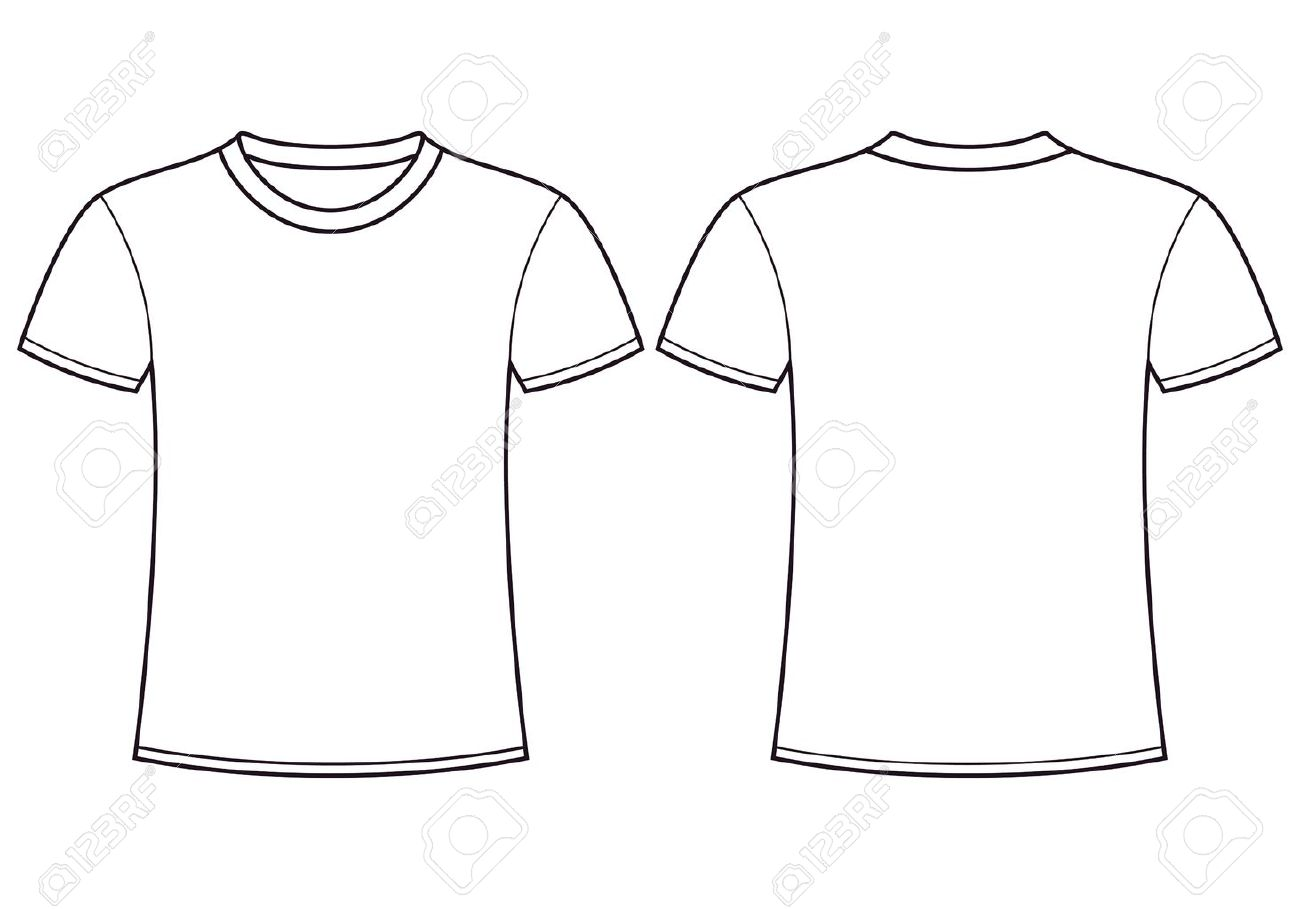 Blank t shirt template front and back stock vector 14087053