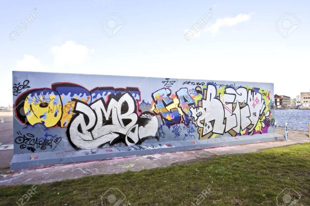 Graffiti wall in amsterdam the netherlands stock photo 12983424