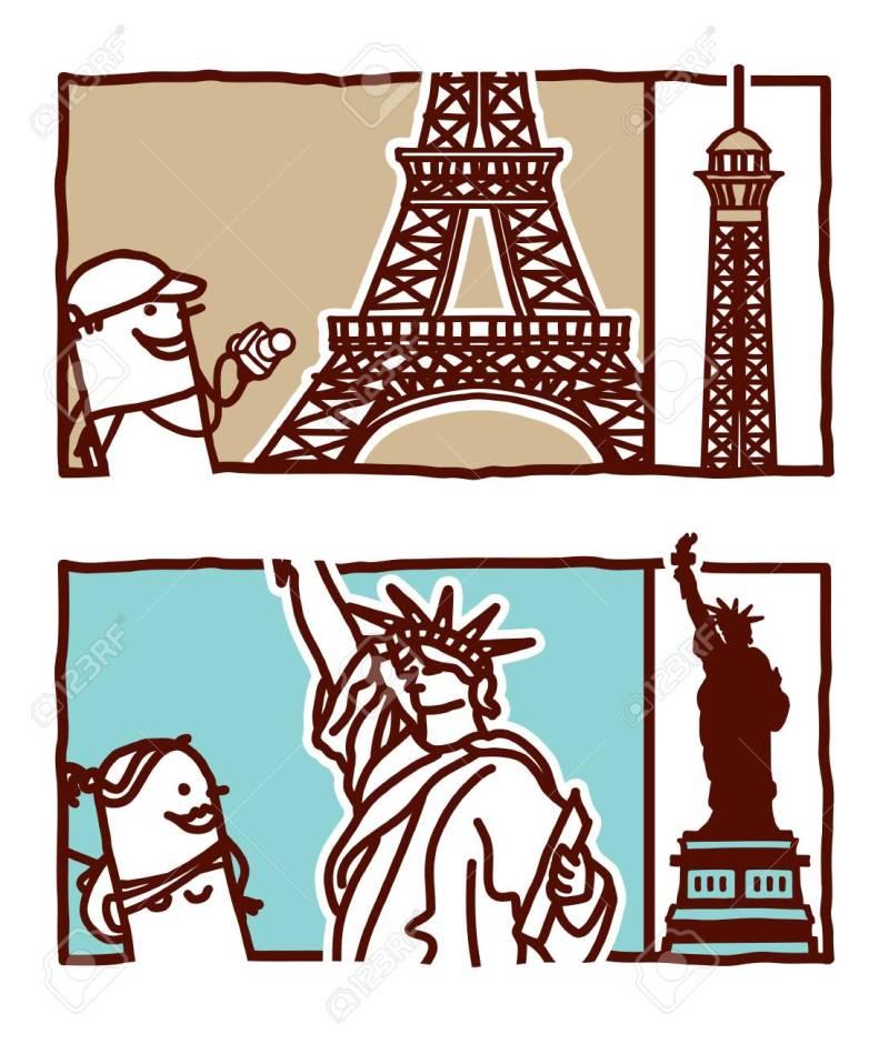 Large Of Eiffel Tower Cartoon