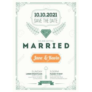 Neat Wedding Invitation Standard Size 1 How To Make Standard Wedding