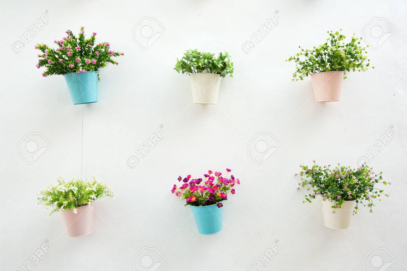 Blumen Im Topf Stock Photo