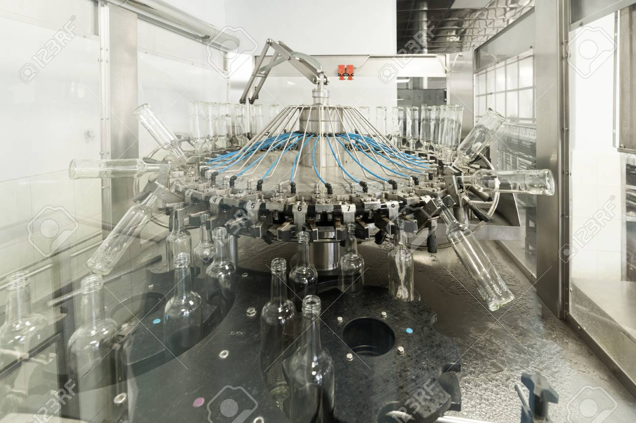 Glass Factory Manufacturer The Machine For Washing Glass Bottles Factory For Bottling Alcoholic