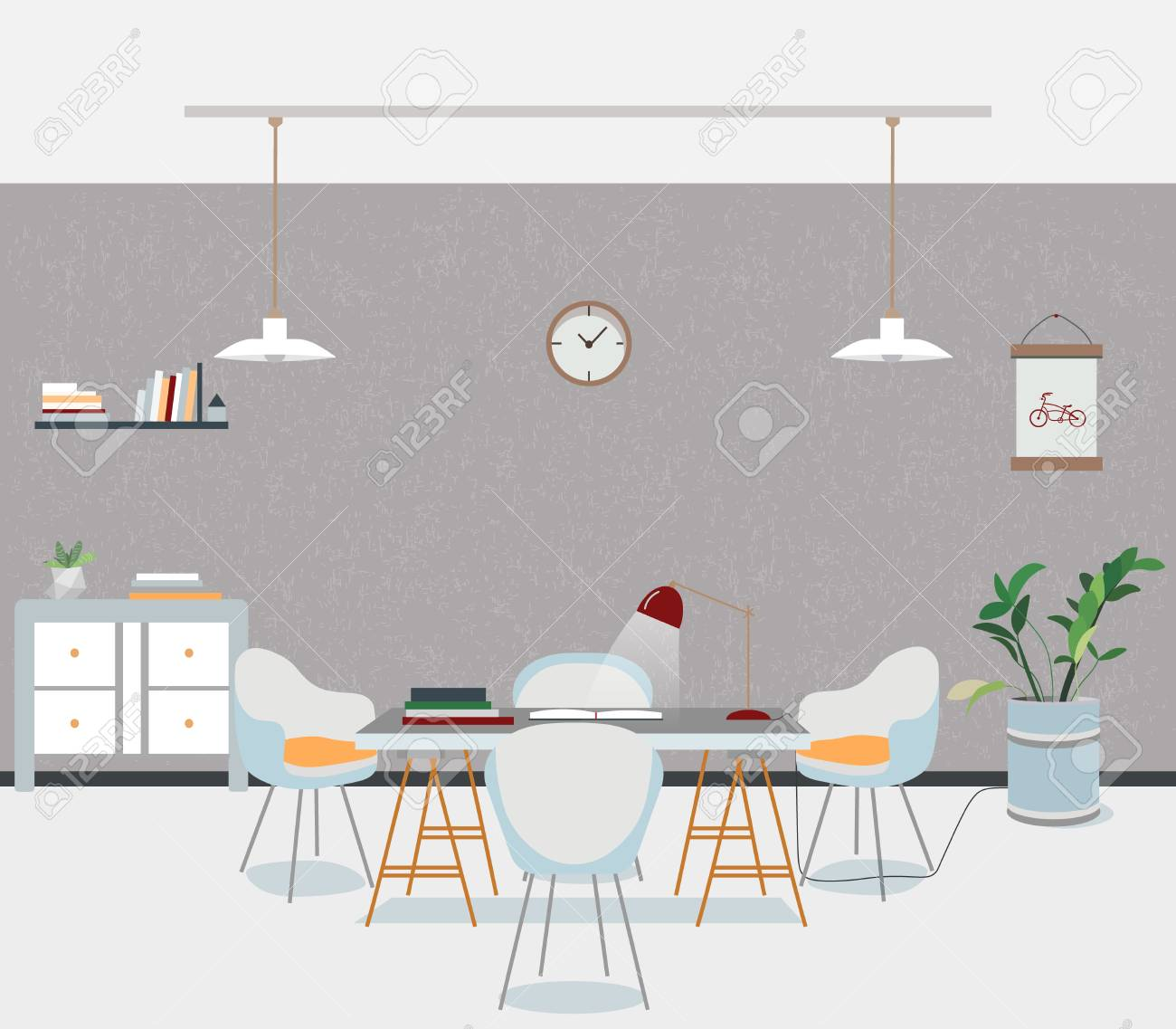 Esszimmer Lampe Loft Stock Photo