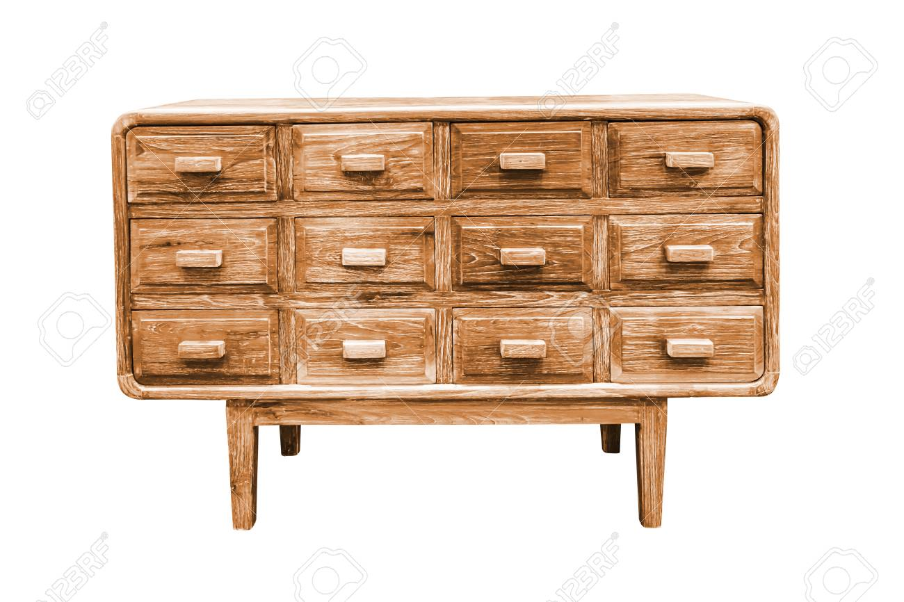 Schubladenschrank Holz Stock Photo