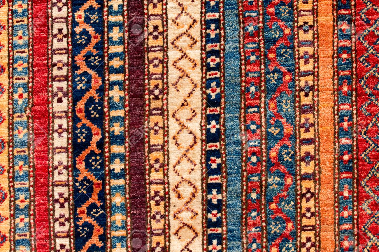 Asian Carpet Detail Asian Carpet In Istanbul Turkey Close Up