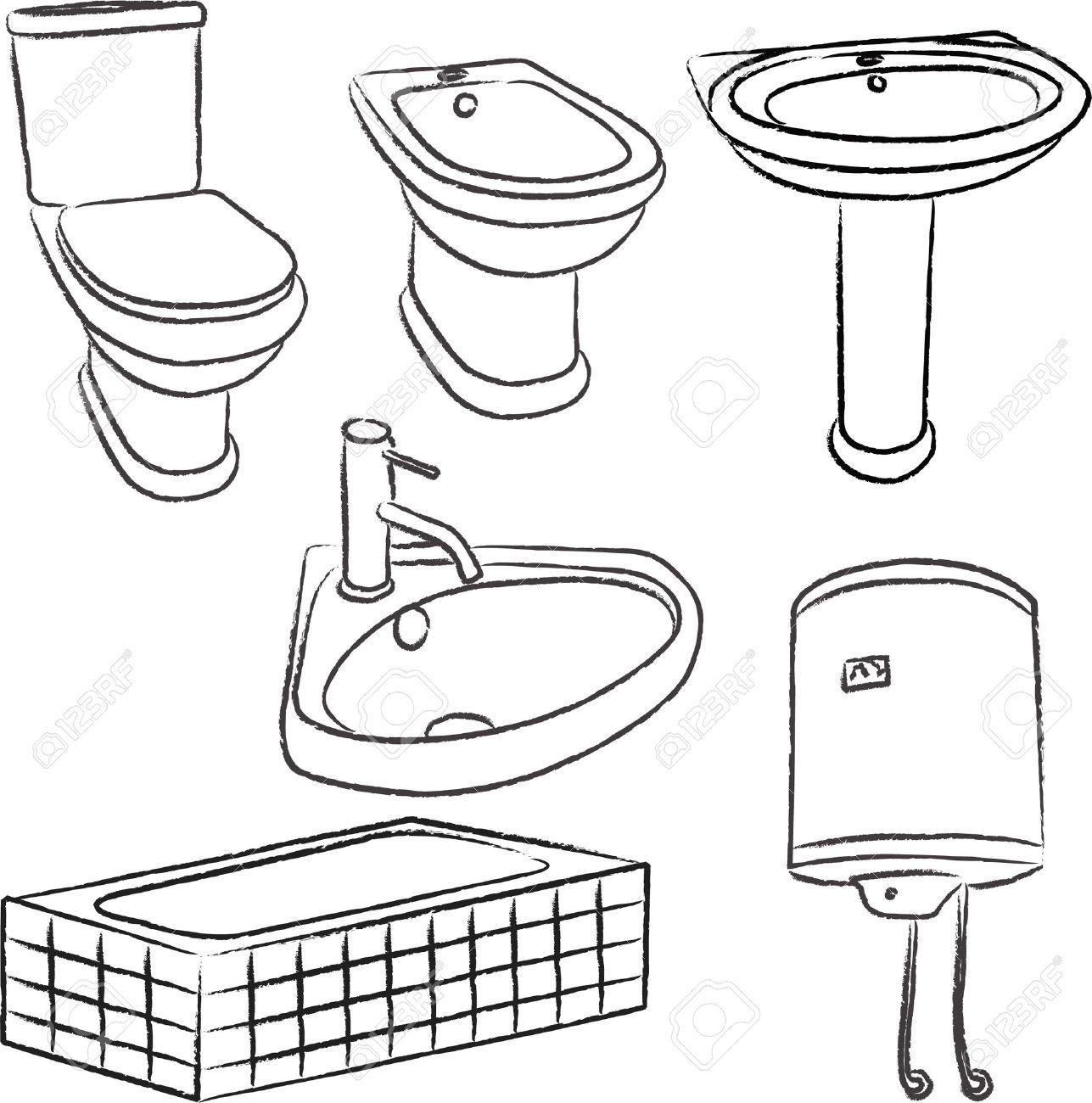 Bathroom sink drawing - Download