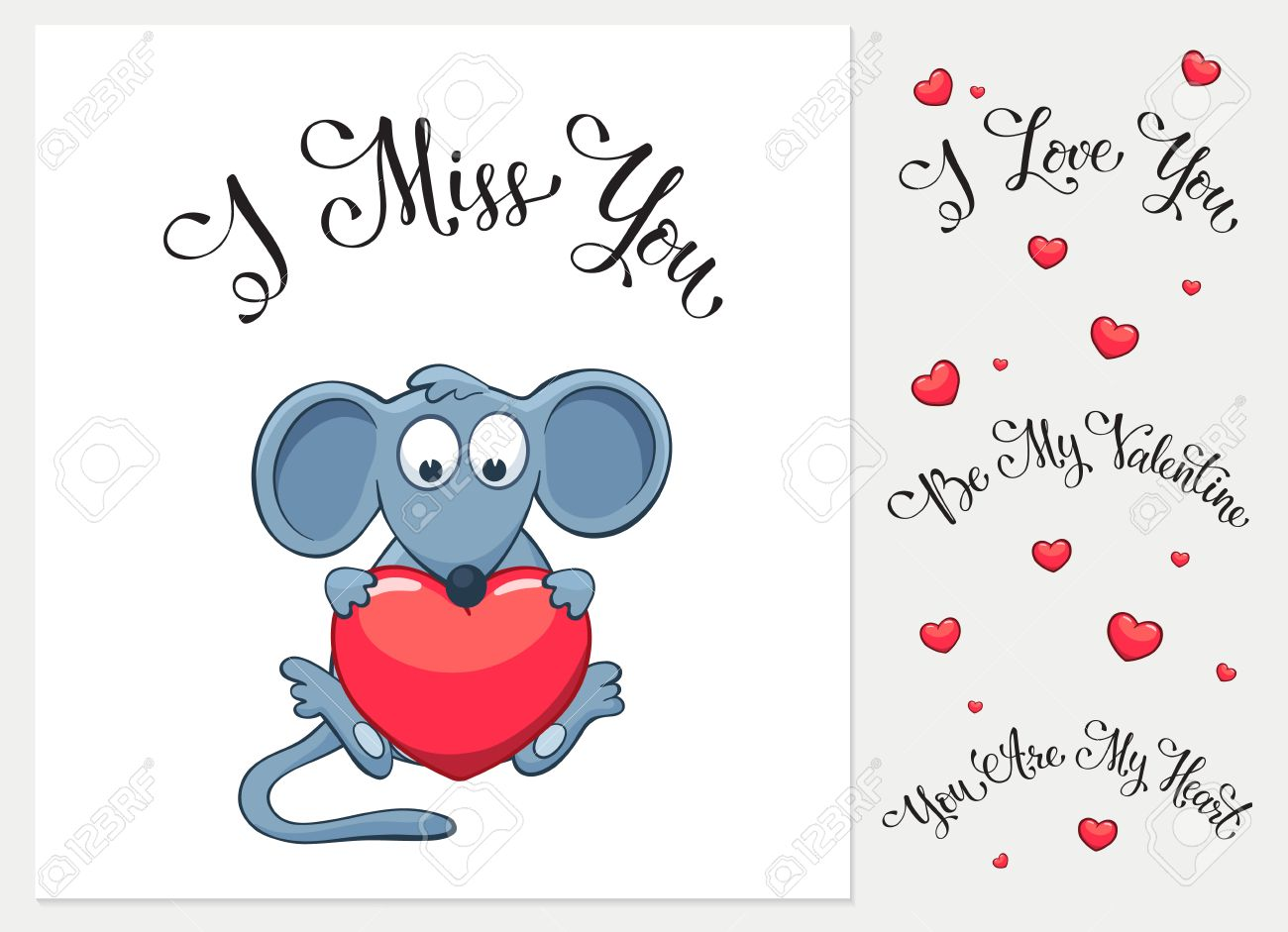 Engaging Heart I Love You I Miss You Be My Valentine You Are My Heart Ny Greeting Card Miss You Ny Messages Miss You Ny Text 51706165 Cartoon Mouse inspiration Miss You Funny