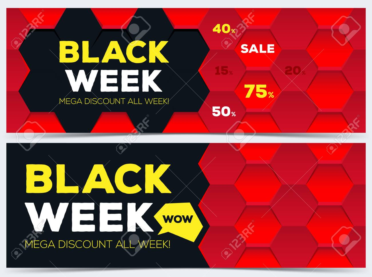 Black Week Sale Black Week Sale Black Week Banner Sale Banner Sale Mega Discount